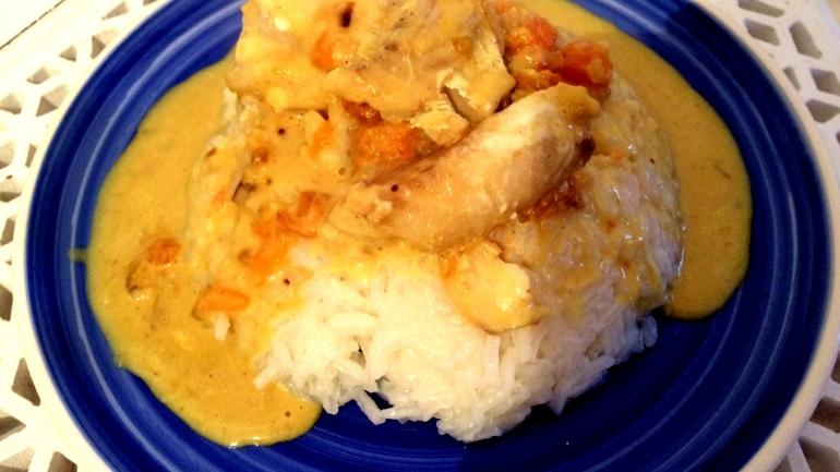 #Recette Curry de poisson au lait de coco