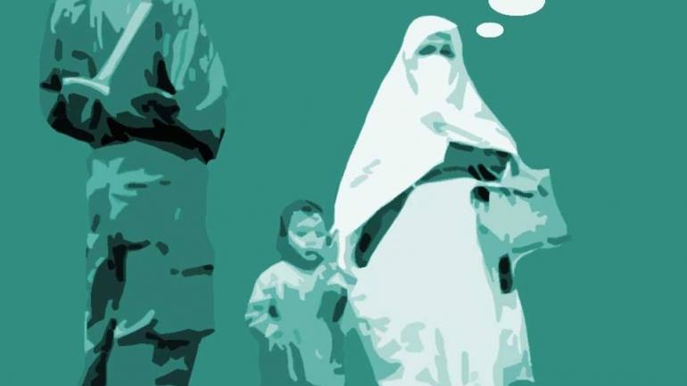 Une Algérienne transforme des images de guerre en œuvres d'art