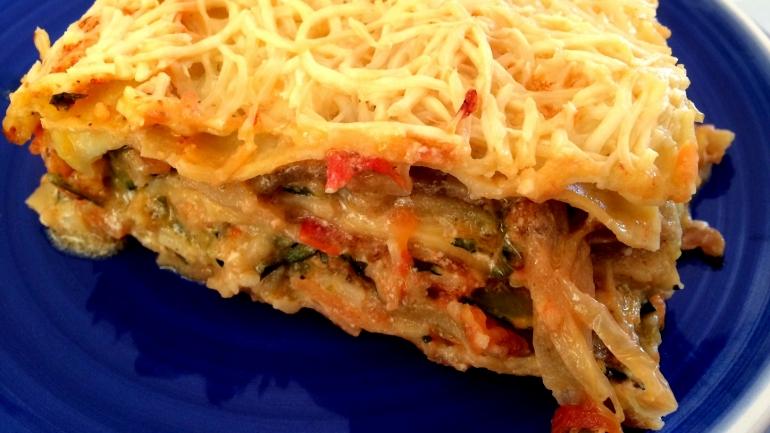 #Recette Lasagnes végétariennes aux aubergines