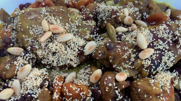 #Recette Tajine marocain aux fruits secs et amandes