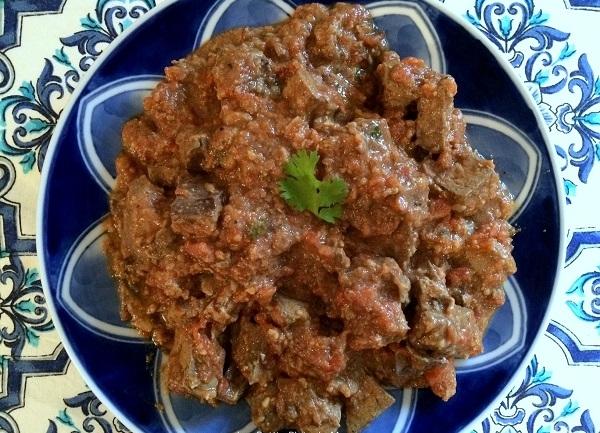 #Recette Kebda Mchermla ou foie en sauce