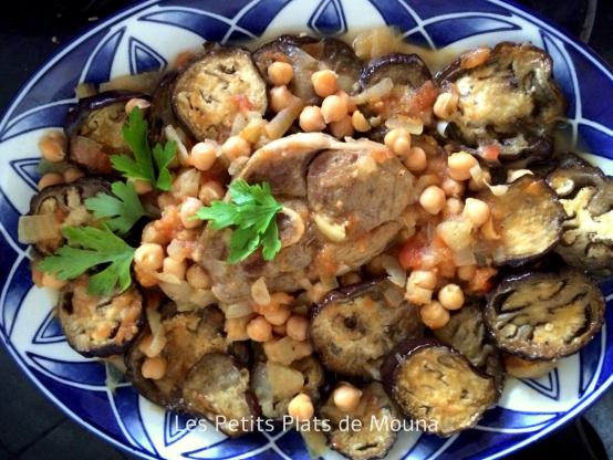 #Recette Tajine algérien aux aubergines