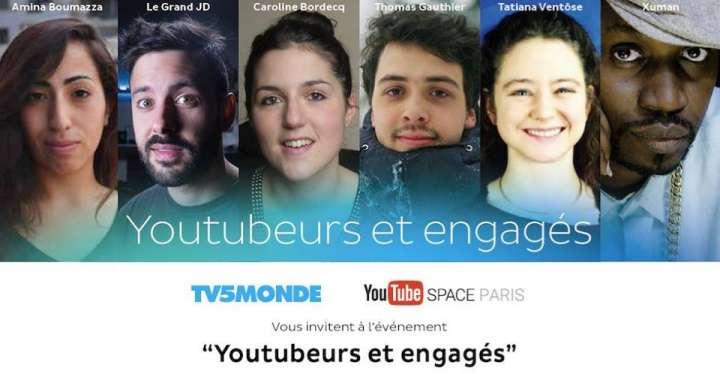 Youtube et TV5 Monde donnent la voix aux youtubeurs engagés