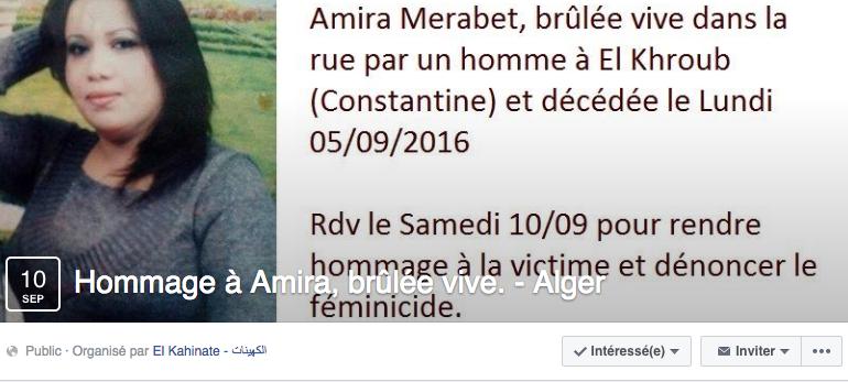 #Miso : le drame d'Amira, brûlée vive à Constantine