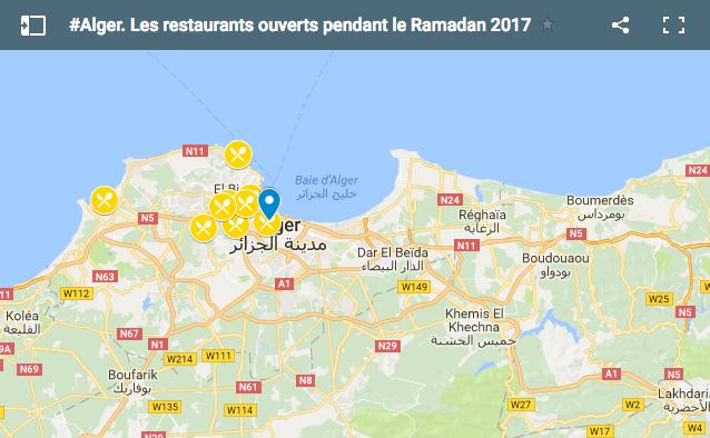 Carte Algerie Boufarik.Alger La Carte Des Restaurants Ouverts Pendant Le Ramadan