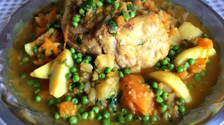 #Recette Tajine de petits pois et patates douces